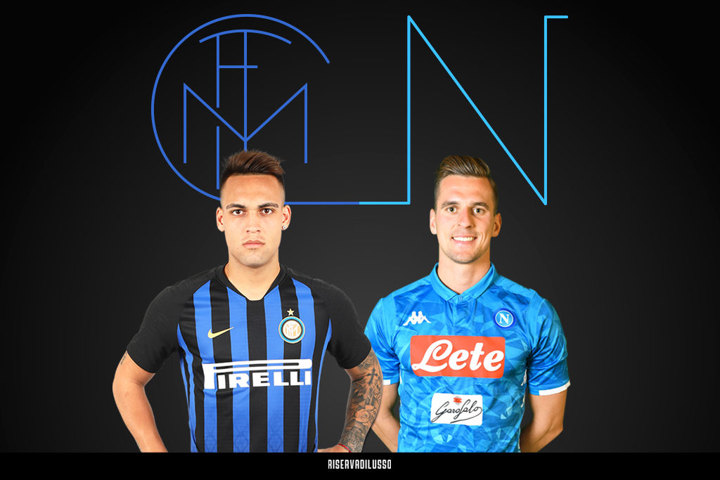 Inter-Napoli con Lautaro Martinez e Arkadiusz Milik