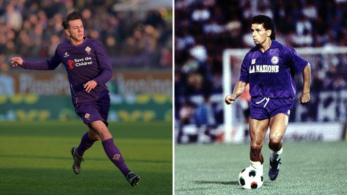 Federico Bernardeschi e Roberto Baggio numeri 10 della Fiorentina - Riserva di Lusso