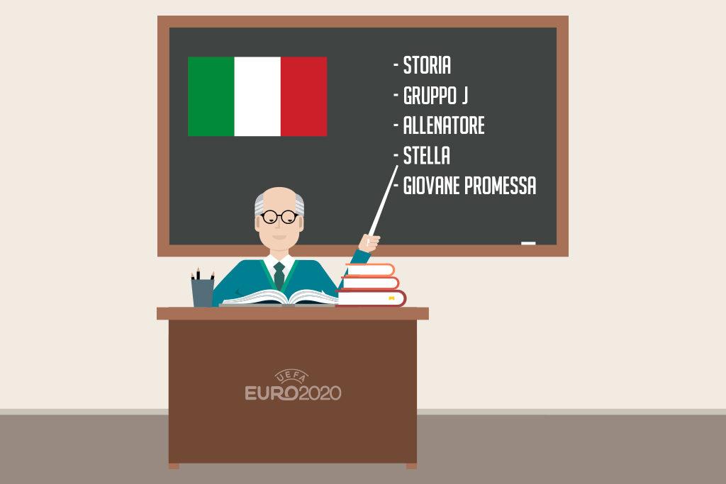 illustrazione insegnante euro 2020 italia