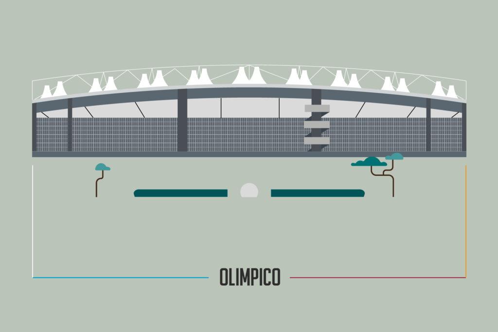 illustrazione stadio olimpico roma
