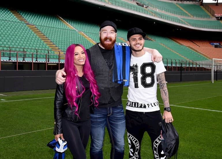 wrestler Sheamus e Sasha Banks