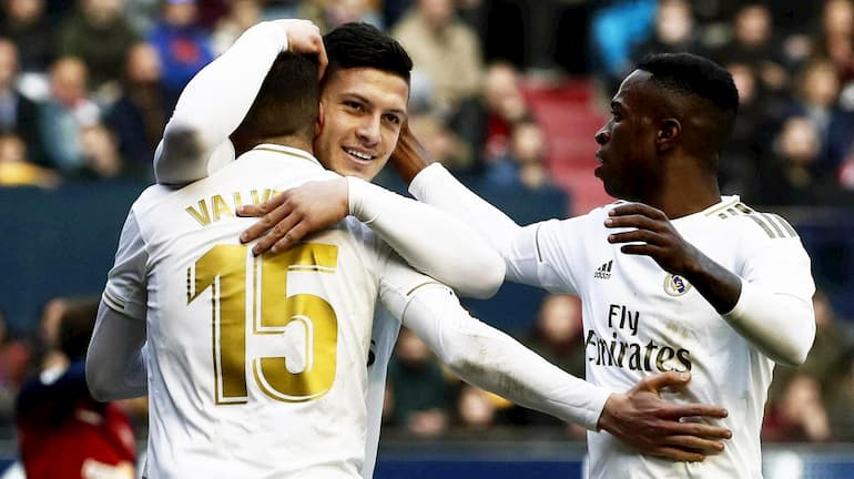 Jovic e Vinicius Jr. velocità real madrid