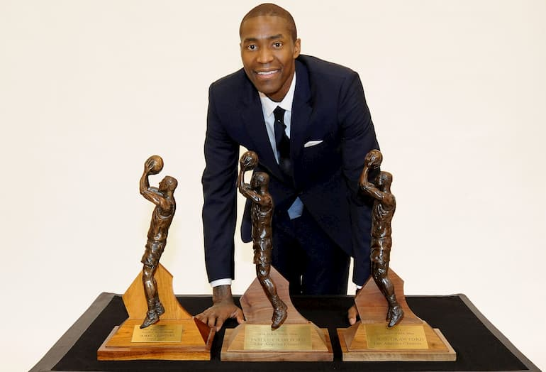 Jamal Crawford con i tre Sixth Man of the Year Award