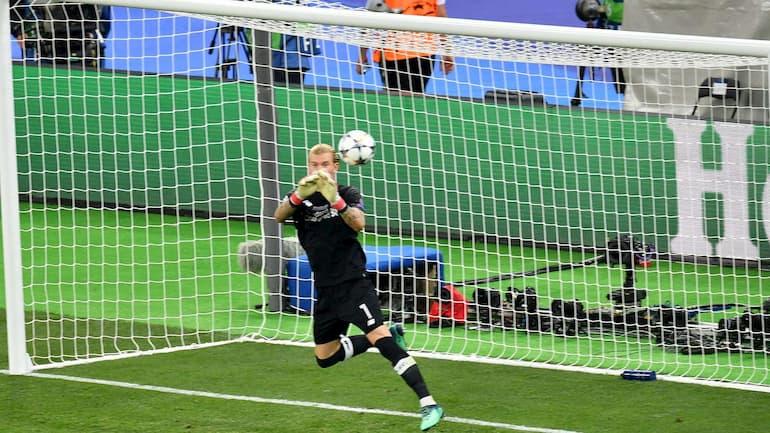 Loris Karius in occasione del secondo gol di Bale