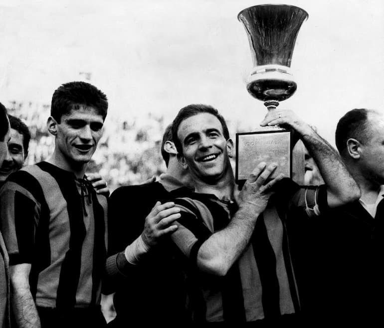 Domenghini (a sinistra) e Gardoni (con la Coppa Italia)