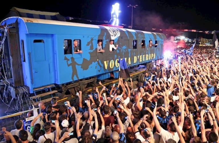 La locomotiva nerazzurra alla Festa della Dea 2015 (Foto: L'Eco di Bergamo)