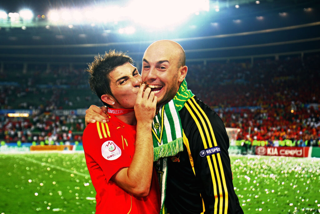 David Villa & Pepe Reina - Foto Laurence Griffiths Getty Images OneFootball