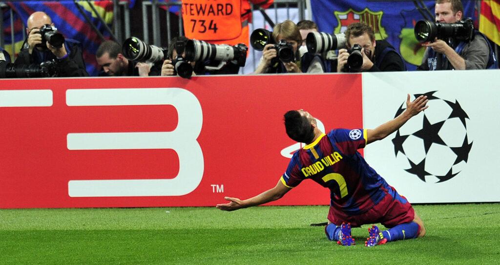 David Villa vs Man Utd - Foto Glyn Kirk AFP via Getty OneFootball