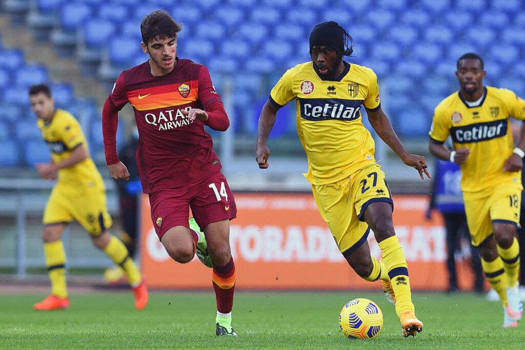 Lo spagnolo nella partita contro il Parma
