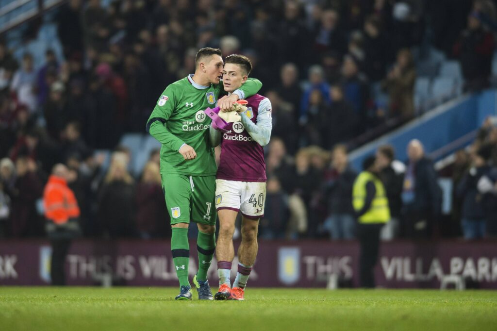 Gollini e Grealish all'Aston Villa