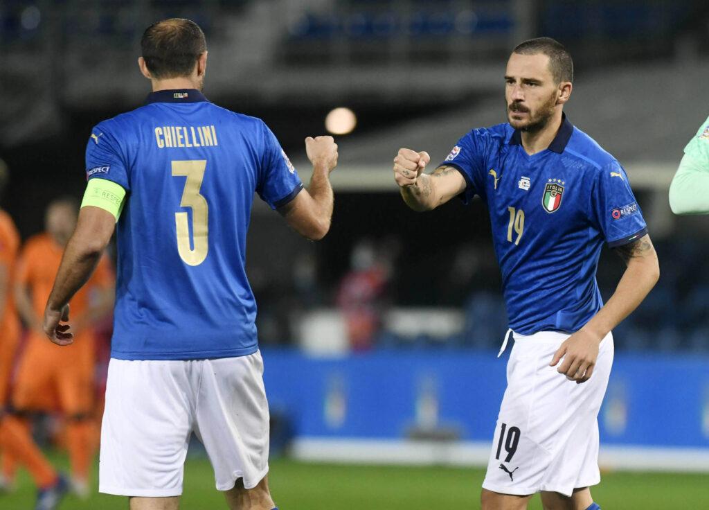Leonardo Bonucci e Giorgio Chiellini