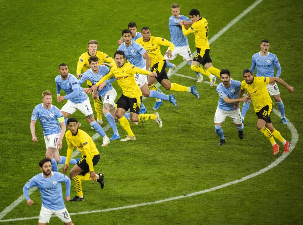 Zinchenko e il Manchester City contro il BVB