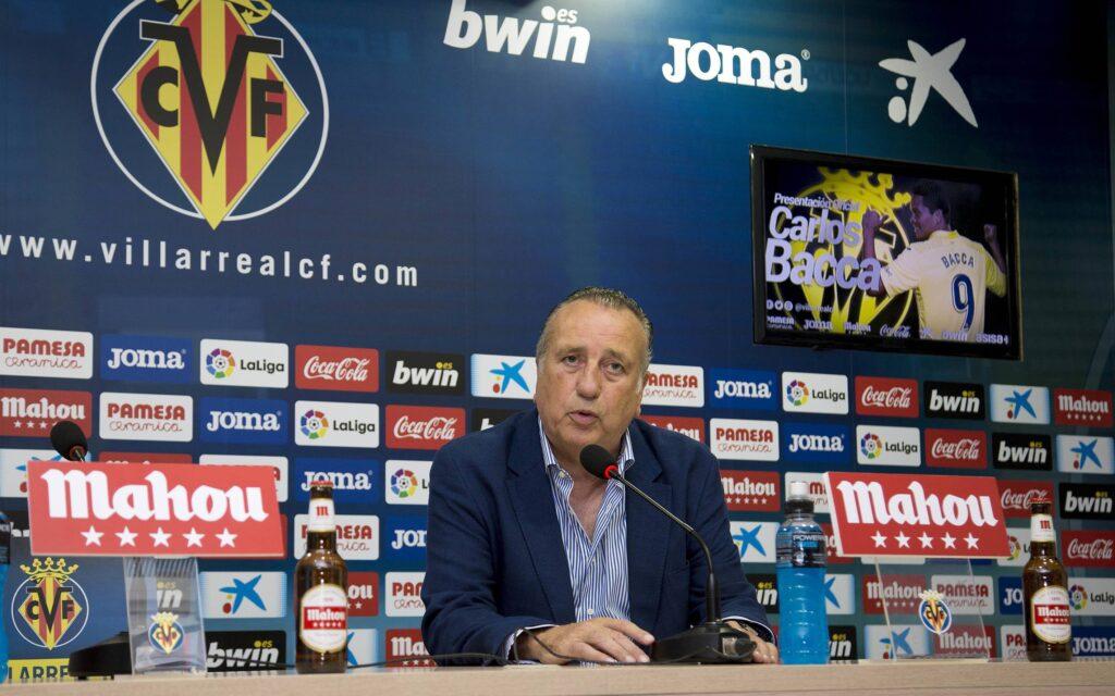 Il presidente del Villarreal Roig