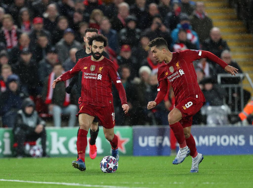 Salah e Firmino nella sfida contro l'Atletico del marzo 2020