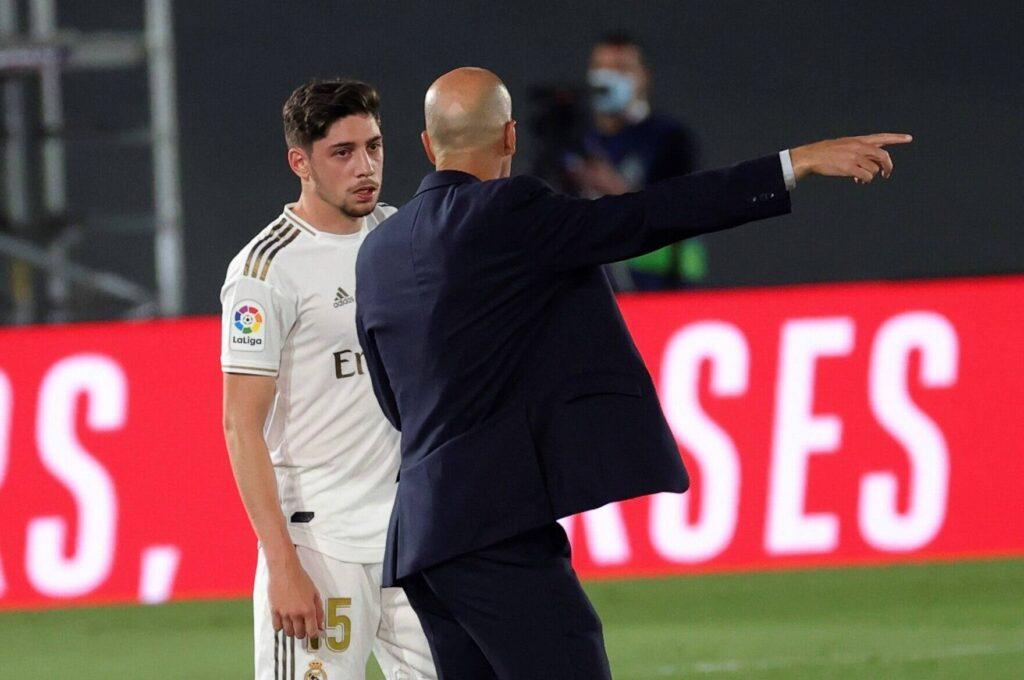 Valverde a colloquio con Zidane