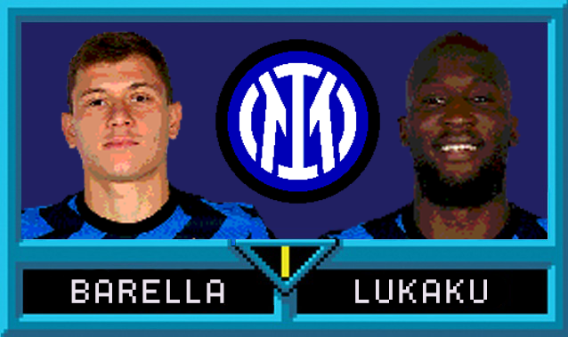 Nicolò Barella e Romelu Lukaku in Serie A Jam
