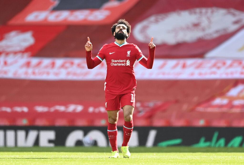Mohamed Salah esulta per un gol