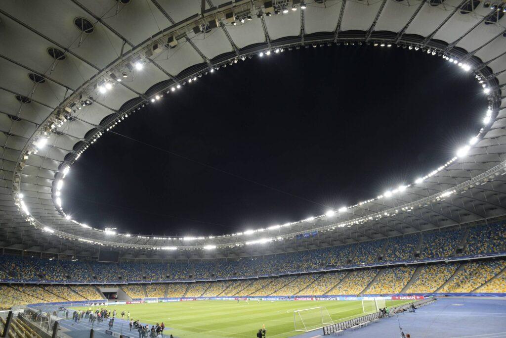Lo stadio Olimpico di Kiev