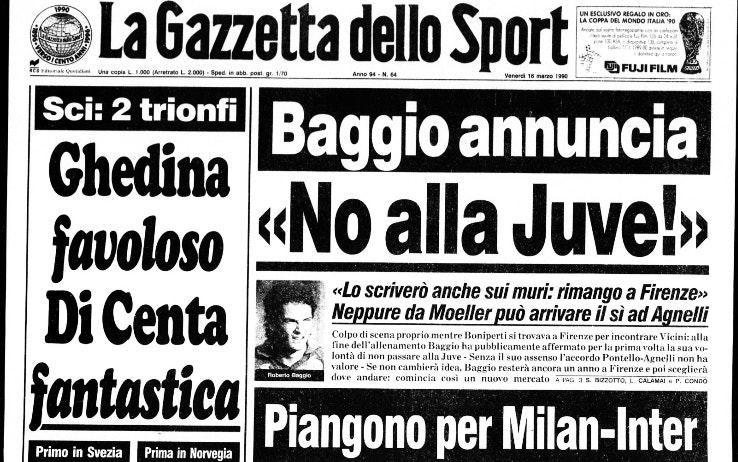 La prima pagine della Gazzetta dello Sport dopo Fiorentina-Juventus