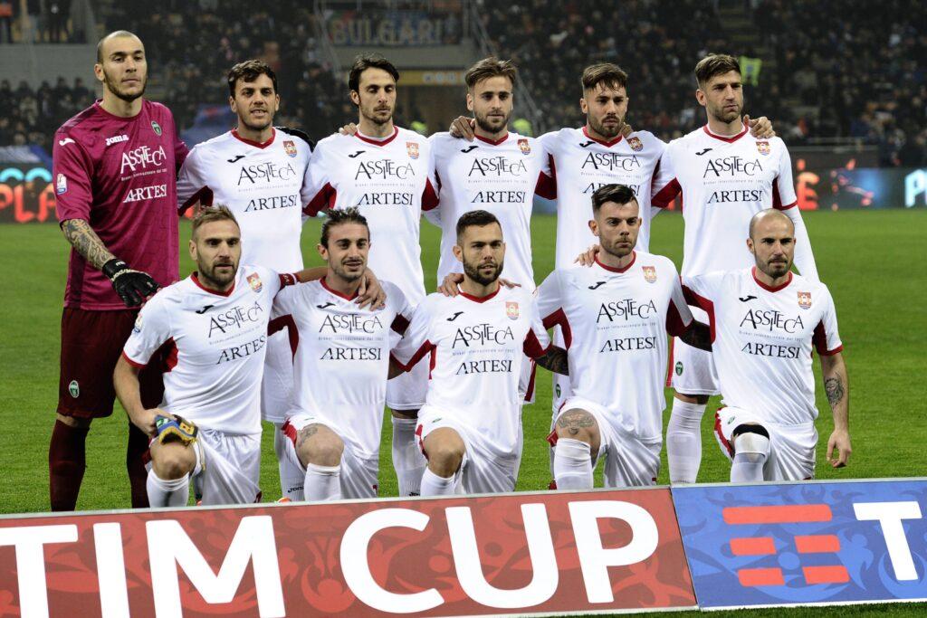 La formazione titolare del Pordenone contro l'Inter