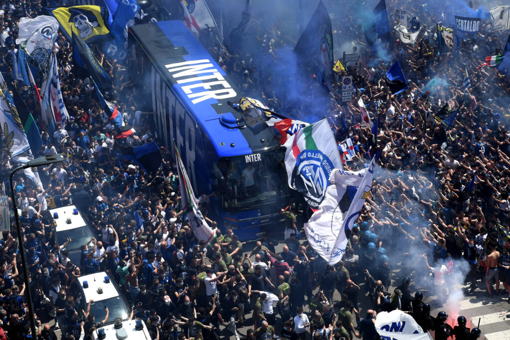 La festa per lo Scudetto dell'Inter a San Siro