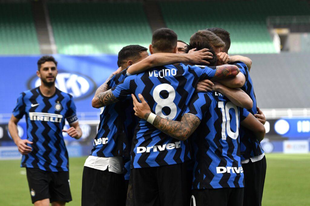 L'Inter festeggia un gol
