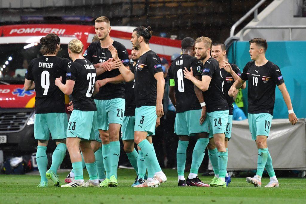 Esultanza Austria a Euro 2020