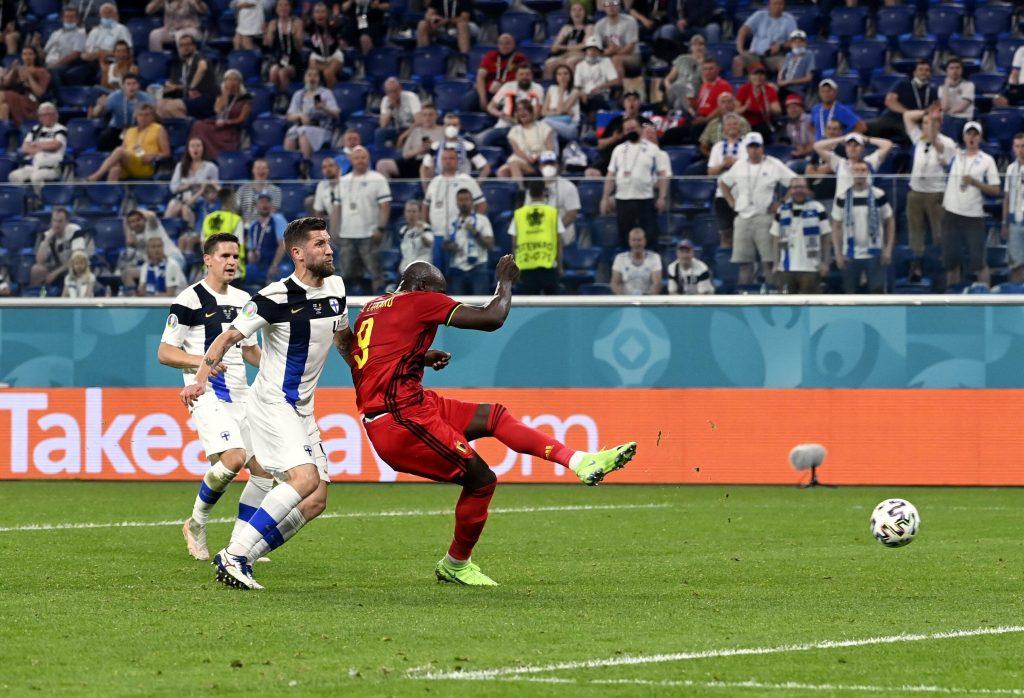 Lukaku al gol a Euro 2020