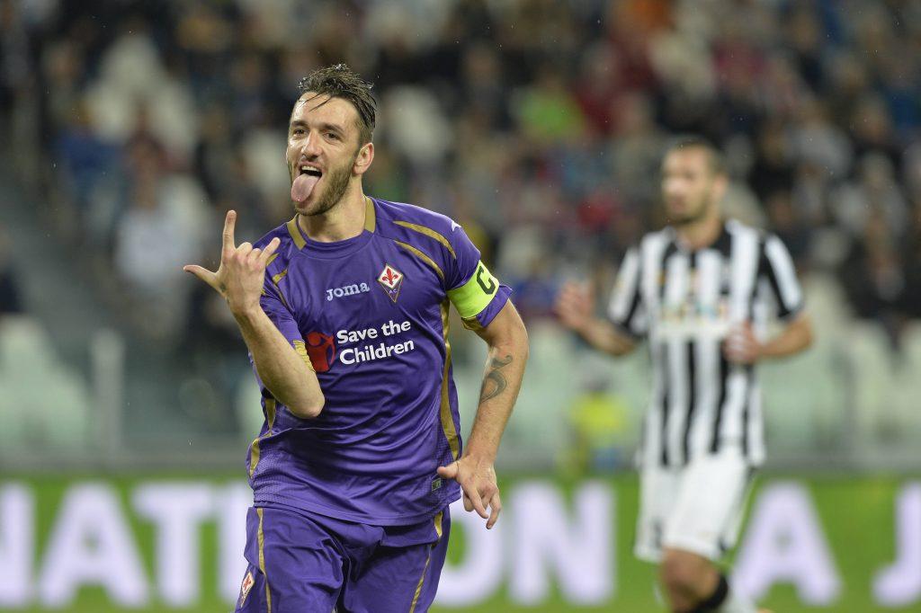 Rodriguez festeggia in Juventus-Fiorentina