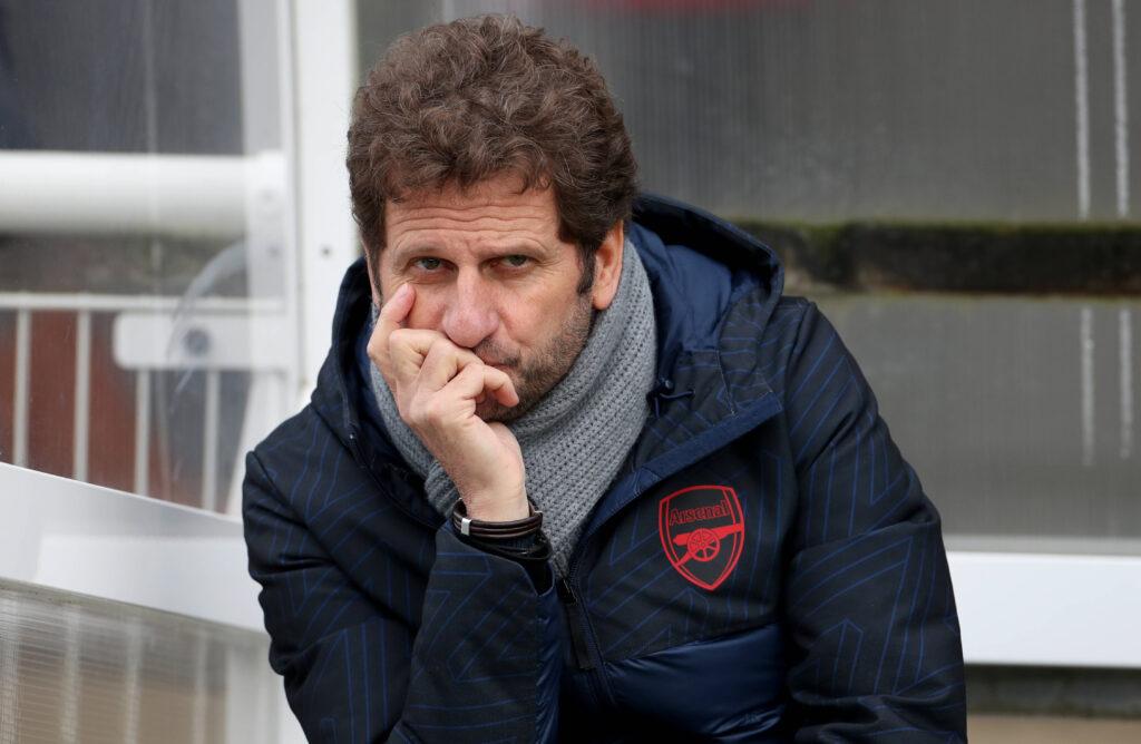 Joe Montemurro all'Arsenal