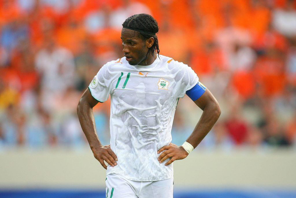 Didier Drogba con la maglia della Costa d'Avorio