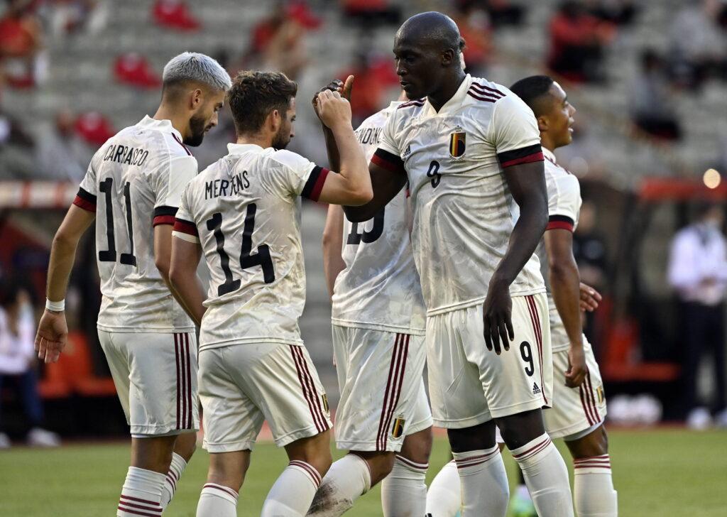Il Belgio esulta in vista di Euro 2020