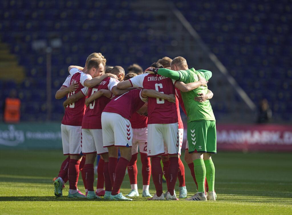 La Danimarca esulta in vista di Euro 2020