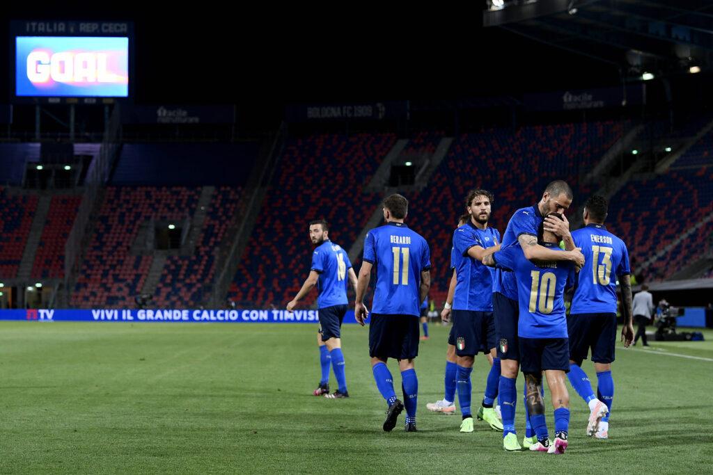 L'Italia esulta in vista di Euro 2020