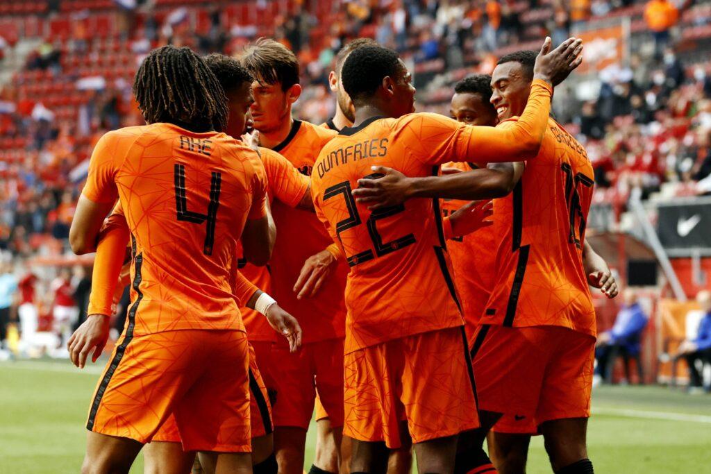 L'Olanda esulta in vista di Euro 2020