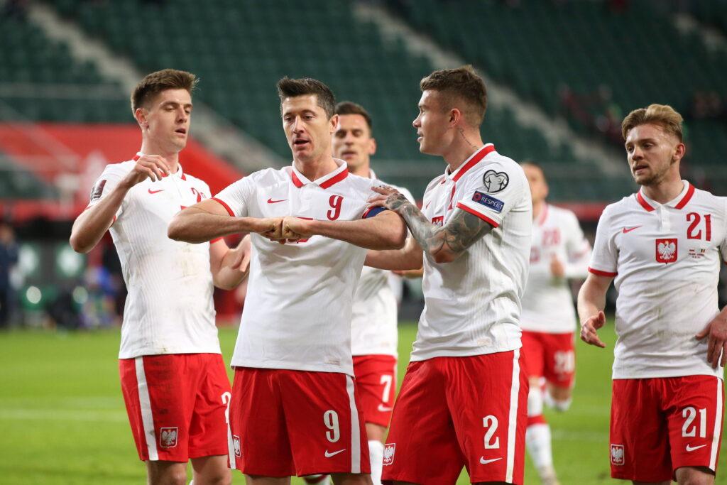 La Polonia esulta in vista di Euro 2020