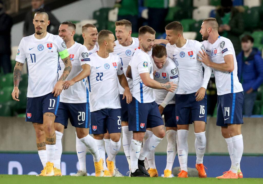 La Slovacchia esulta in vista di Euro 2020
