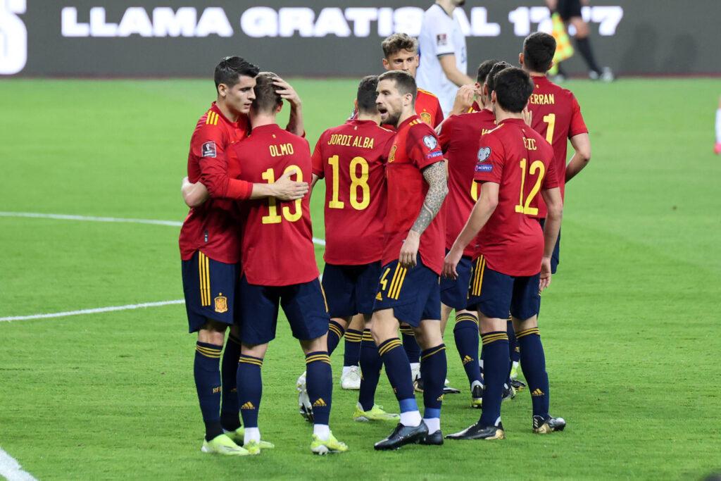 La Spagna esulta in vista di Euro 2020