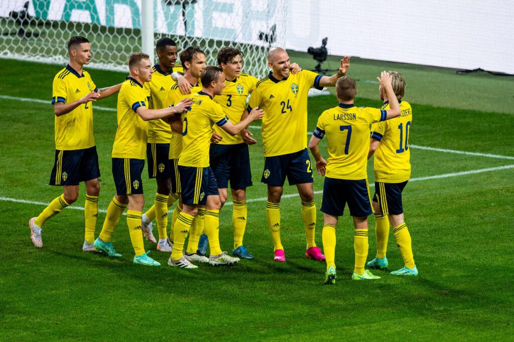 La Svezia esulta in vista di Euro 2020