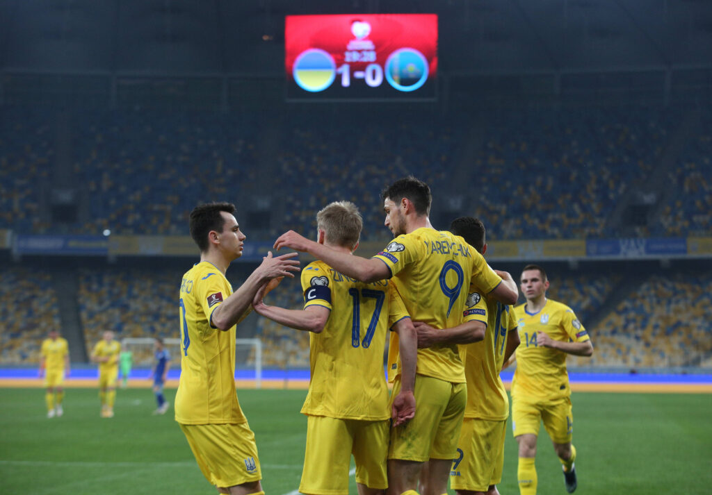 L'Ucraina esulta in vista di Euro 2020