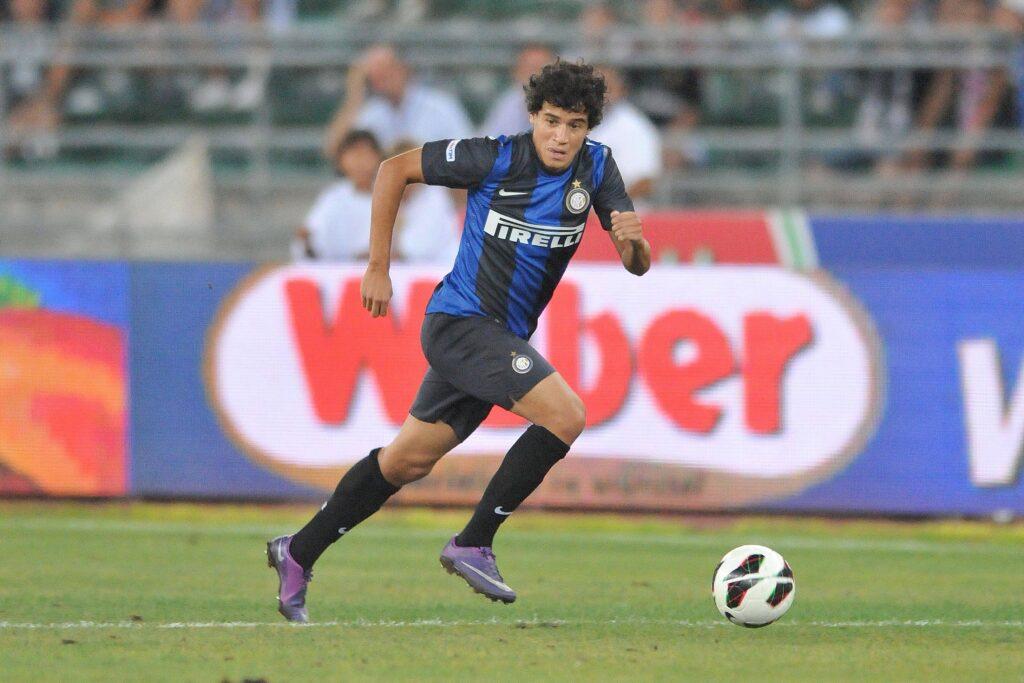 Philippe Coutinho in campo con l'Inter