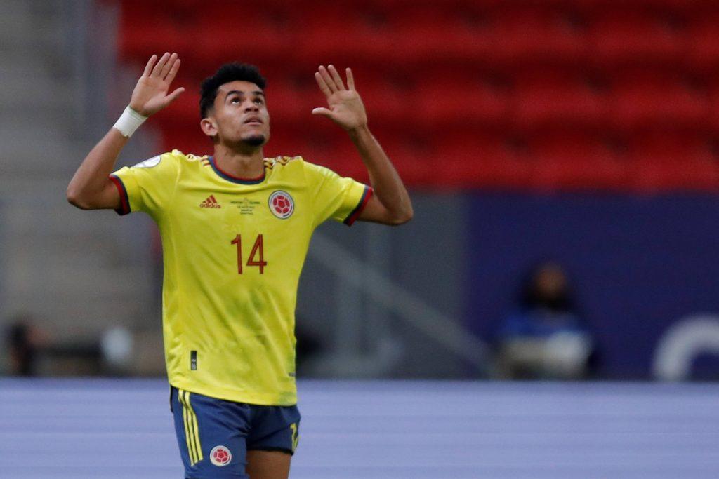L'esultanza di Diaz dopo il gran gol contro l'Argentina in semifinale