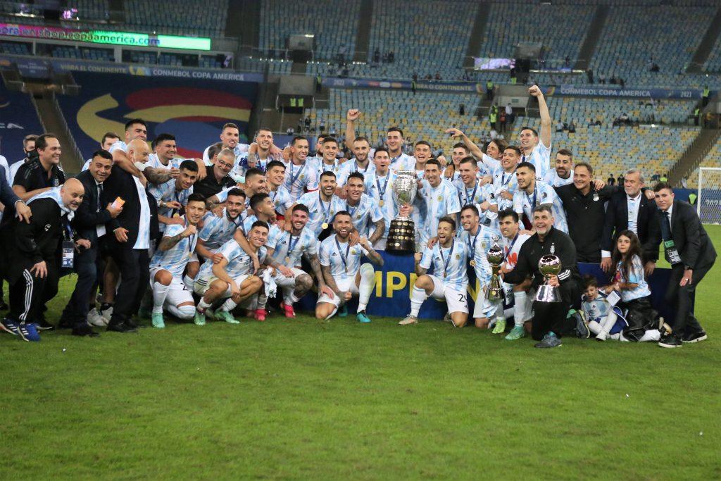L'Argentina festeggia la Copa America 2021