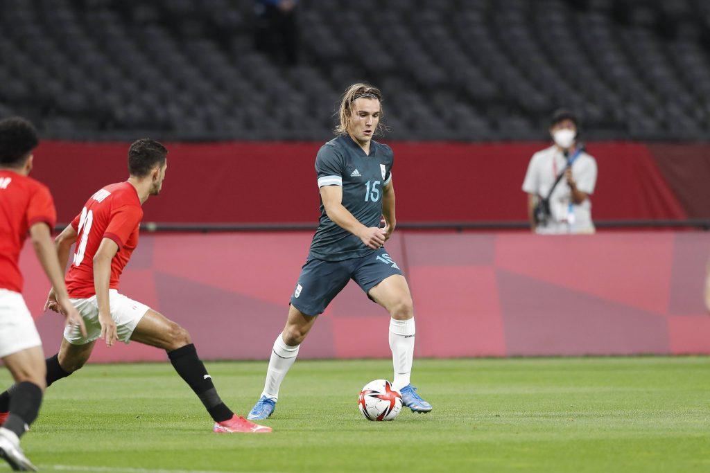De la Vega in azione contro la Spagna alle Olimpiadi