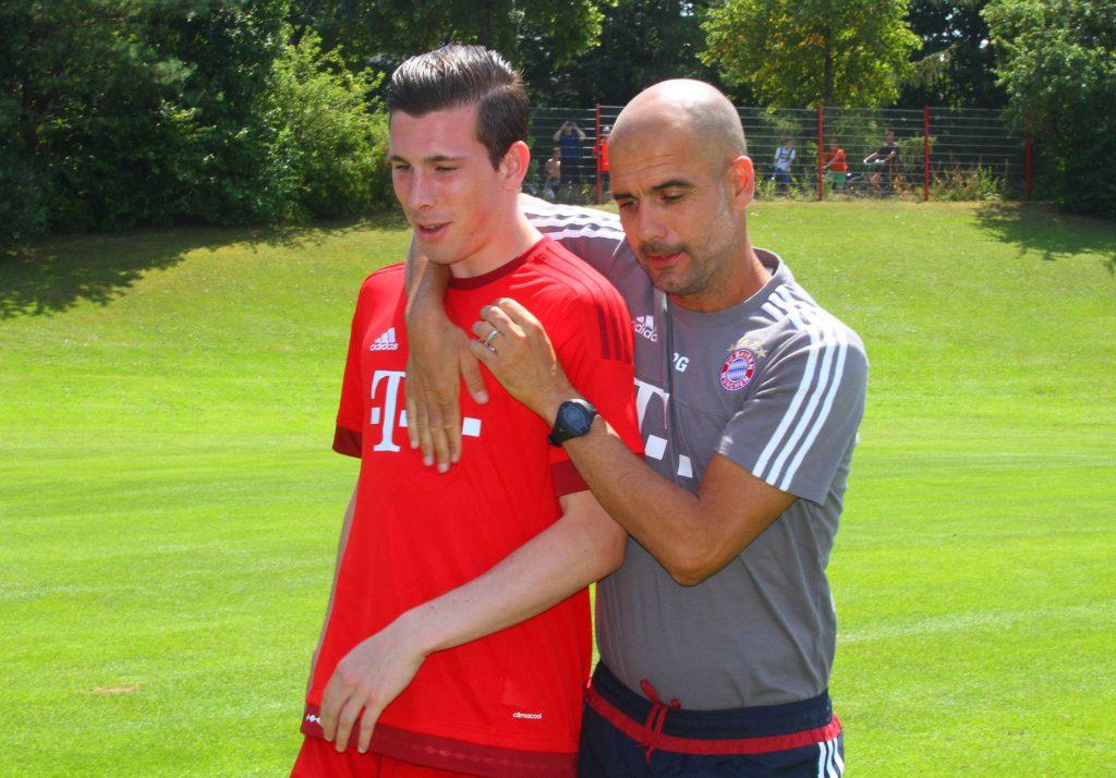 Guardiola e Hojbjerg nel primo ritiro in Trentino