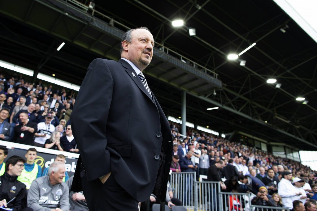 Benitez in una delle sue ultime apparizioni inglesi sulla panchina del Newcastle