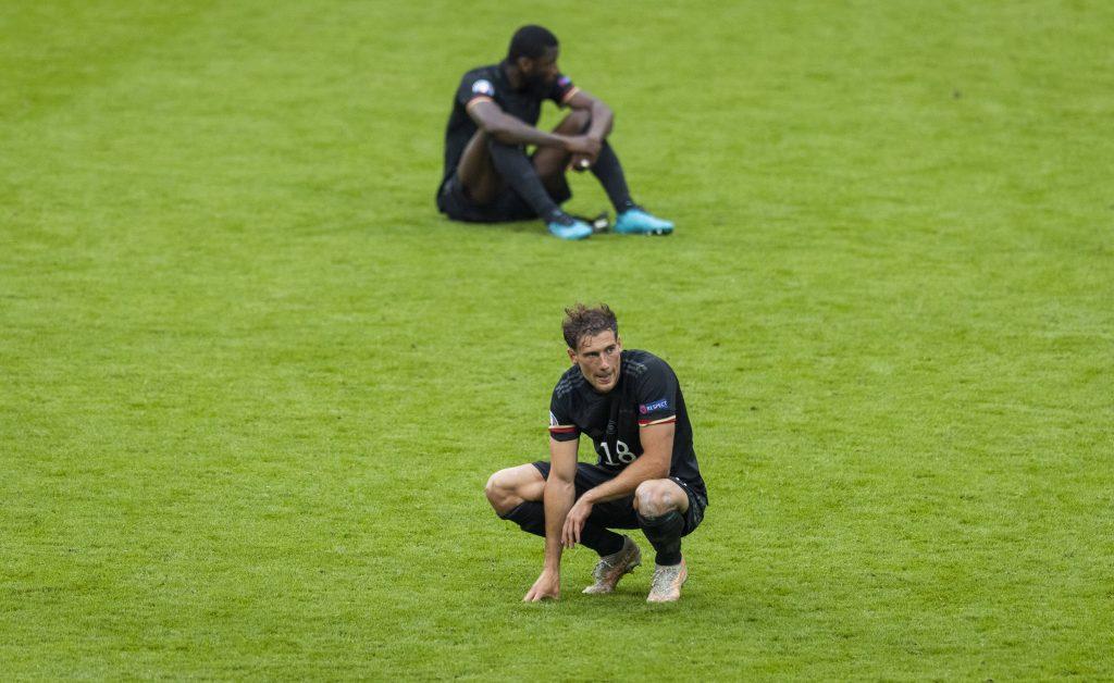 Rudiger e Goretza dopo l'eliminazione contro l'Inghilterra