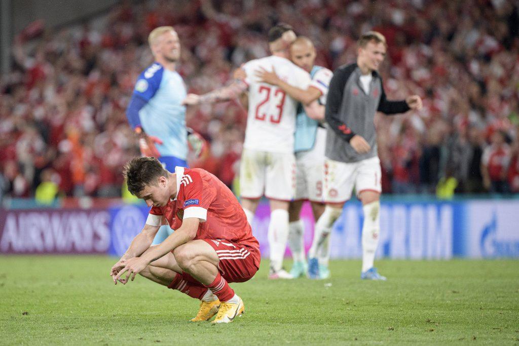 Golovin sconsolato dopo l'eliminazione della Russia