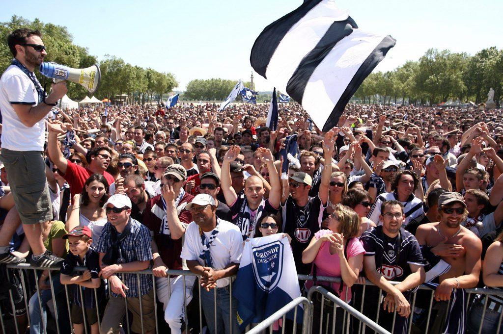 I tifosi girondini festeggiano la vittoria del titolo