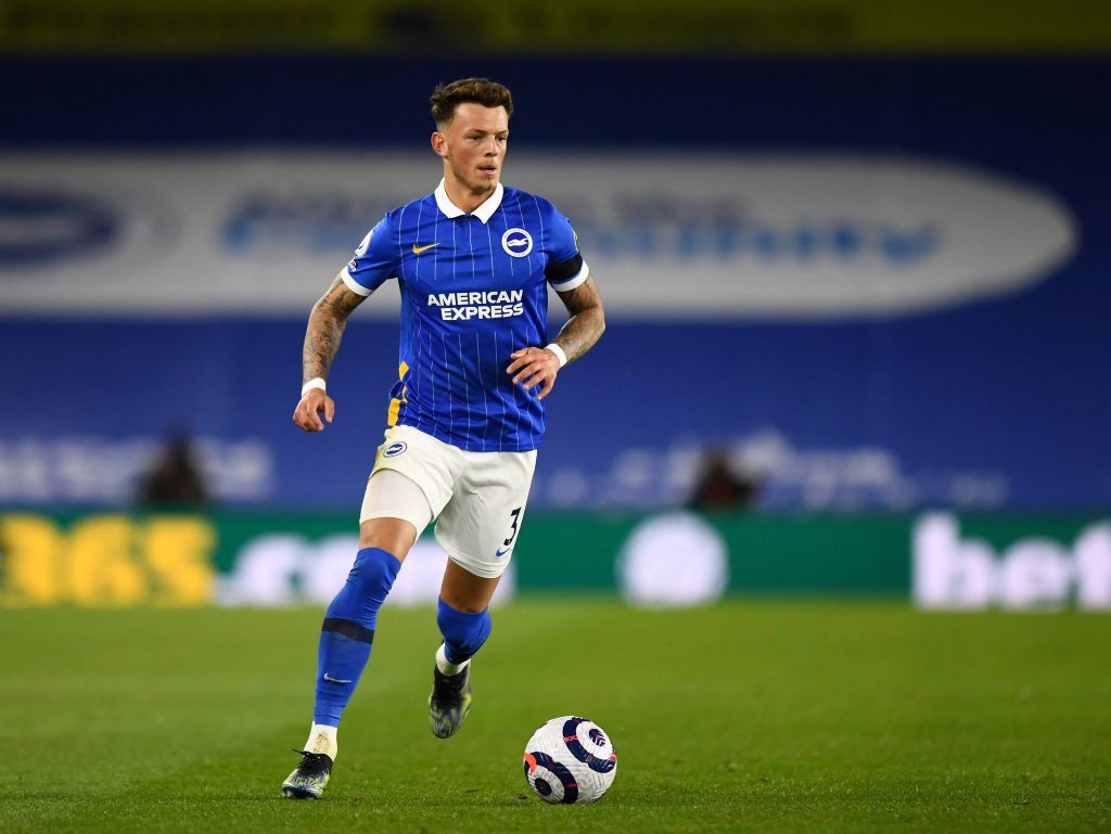 Ben White con la maglia del Brighton, stagione 2020/2021